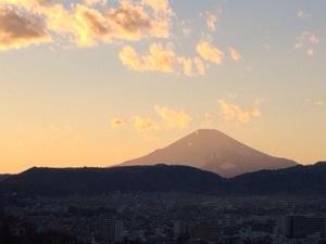 秦野市弘法山からの富士山